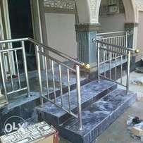Stainless steel railings/portal cabin