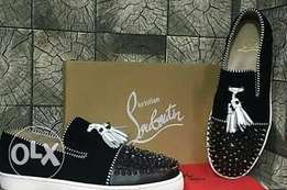 Black dotted improve Louboutin wear for ladies