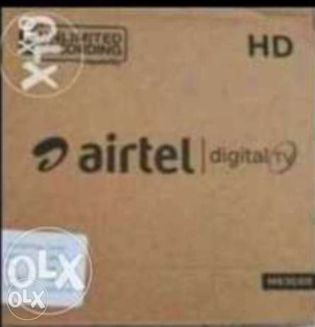 Airtel new Full hd receiver with 6months south malyalam tamil telgu