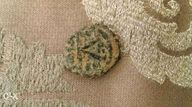 ByzantineTwo Worriors Half Follis Bronze Coin year 500 A.D راس  بيروت -  2