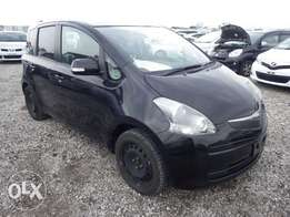 Toyota Ractis Year 2010 Automatic Transmission 2WD Black KCP 790K