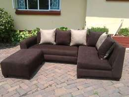 Lorencia Sofa Couch With A Center Table Pouf 750,000/- Get One Now