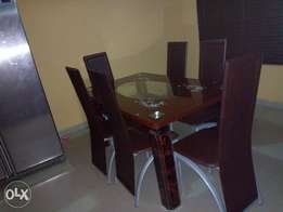 Exotic Durable Glass Dining Table (6-sitter)