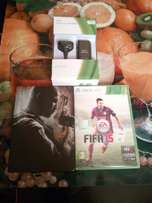 Xbox 360 Play & Charge Kit Plus Games