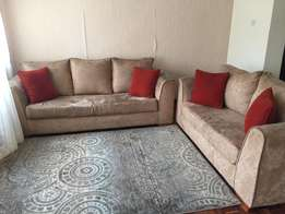 Mint condition suede sofa