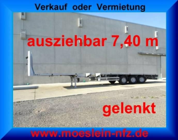 Meusburger MPS-3 3 Achs Tele- Auflieger, 7,40 m ausziehbar, - 2010