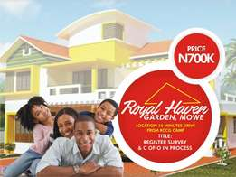 plot of land at royal haven garden, mowe lagos