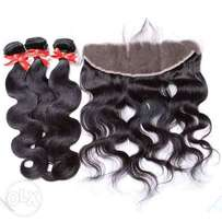 Peruvian ear to ear frontal with 3 bundles together available on a dis