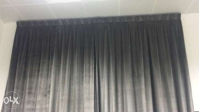 Blackout curtains standard size one window 30 Ro with plain chiffon