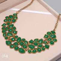 Green Color Choker Necklace
