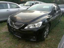 Toyota Mark X new shape. Black KCM number 2010 model loa
