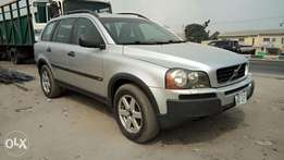 Clean Silver Colored Volvo 2003 XC 90 TC AWD In Excellent Condition.
