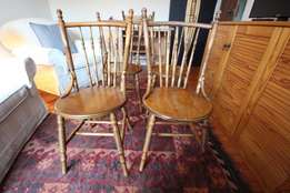 4 Antique oak cottage dining rooms chairs