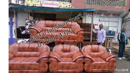 Leather seven Seater couch plus free deliver within Nrb
