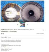 Replacement Speakers - See Pictures - Advert 1 of 3