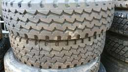 5 xBrand new dual purpose 315 truck tyre