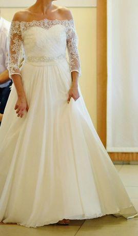 Suknia ślubna Impresja Z Trenem Ecru Roz 40 L Wzrost 173 Cm 10