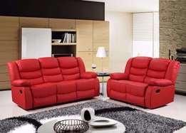 Luxury 3&2 Bonded Leather REcliner Sofa Set With Pull Down Dri