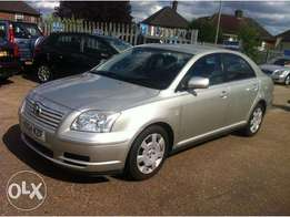 clean avensis kbr silver 680k low mileage accident free