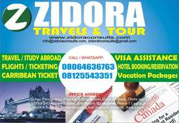 Obtain your Work Visas from Zidora Travels ;the trusted travel company