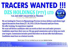 Field Tracers Needed in Limpopo, Mpumalanga and North-West Provinces
