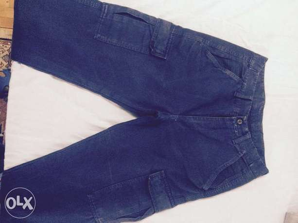 Trousers in blue