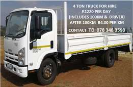 4 ton truck for rent