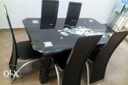 Brand new durable glass dining table & chair