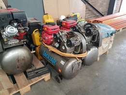 Compressors with petrol engines