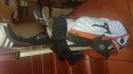Golf clubs plus bag and accessories