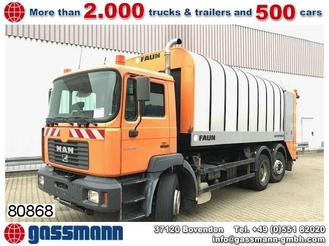Faun man f2000 26.314 fnlc/l 6x2 bl lift-/lenkachse, - 2003