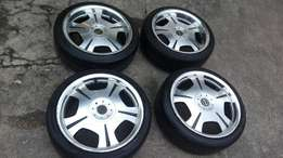 17 inch oxide rims and new tyres 4/100 &4108