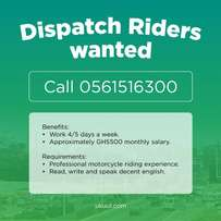 Dispatch riders wanted