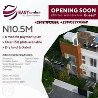 150 plots of land available for sale in East Amber estate Ajah