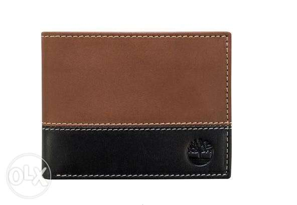 timberland wallet hybrid brown and black