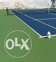 tar surfaces and tennis courts