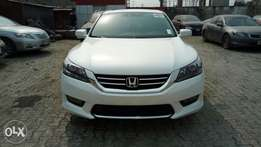White On Tan V6 Powered 2015 Honda Accord With Full Factory Options