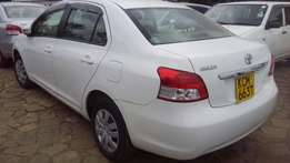 Toyota belta white in color