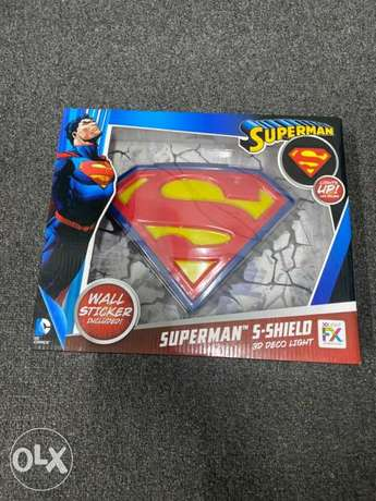 Superman led 3d deco light with wall sticker
