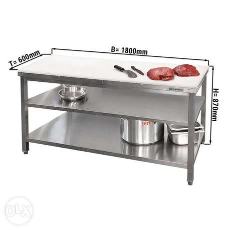 Butchery table ss and stainless steel sink