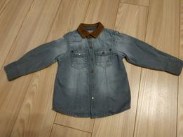 Крутая джинсовая рубашка с вельветовым воротником 2-3 года 293c30f87c057