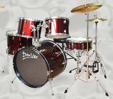 Drum set 5 piece. Brand new. Available in Crimson Red and Ultra Blue.