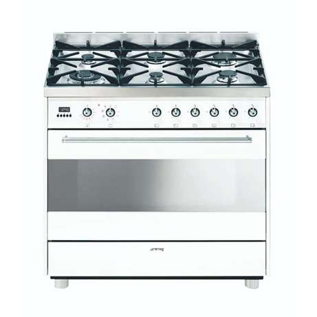 Smeg 90 cm white gas /electric stove Somerset Mall - image 1