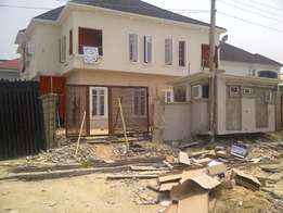 Well Finished 4 bedroom semi detach with 1 Room Bq, lekky county.