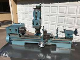 Lathe with Milling Attachment