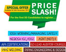 Amazing Price Slash on Oil and Gas Certifications