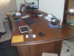 office desk and side Board in solid partrige wood 1964 model