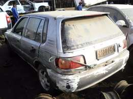 New stock! 1998 Toyota Tazz 1.3 spares. Call today.