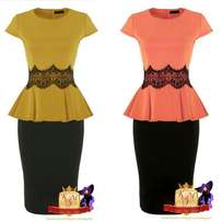 Peplum Top and Pencil Skirt Sets Made in U.K