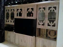 3pc grey wood wall unit on special